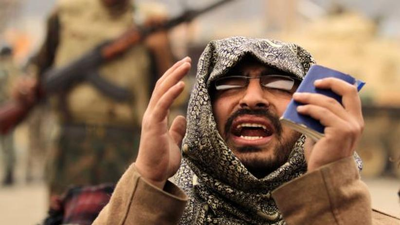 Proteste in Arabien: Ein Anhänger der Muslimbruderschaft während einer Demonstration in Kairo