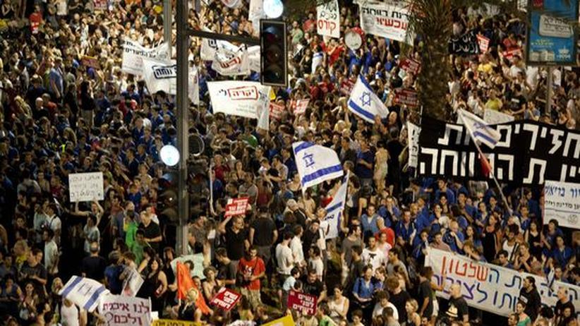 Soziale Proteste in Israel: 100.000 gegen Netanjahu