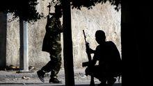 Rebellen in den Straßen von Tripolis