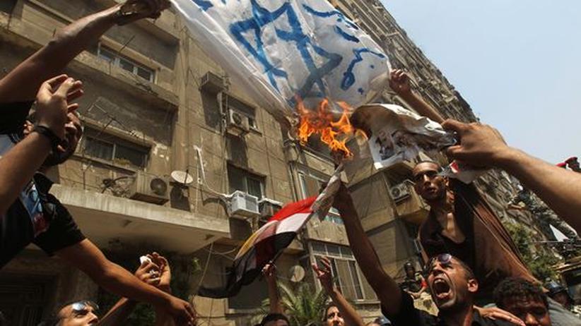 Anti-israelische Ausschreitungen Ende August in Kairo