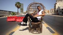 Ein Checkpoint in Tripolis