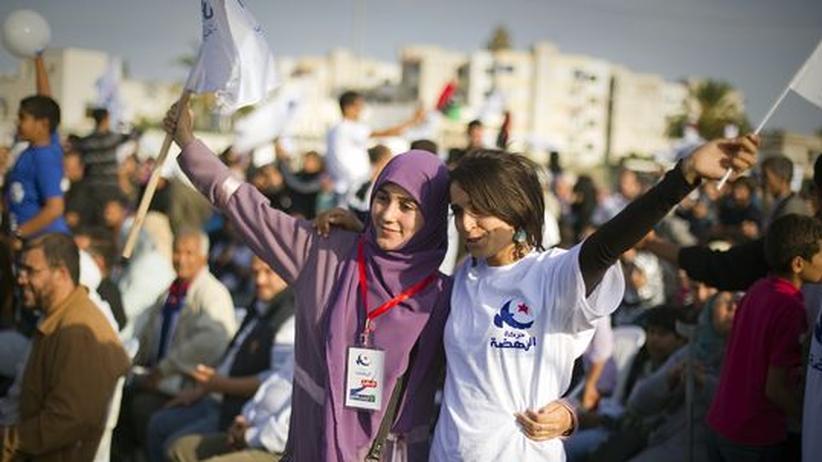 Anhängerinnen der islamistischen Ennahda-Partei in Tunis