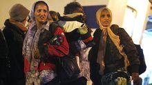 Flüchtlinge aus Nordafrika kommen in Porto Empedocle auf Sizilien an.