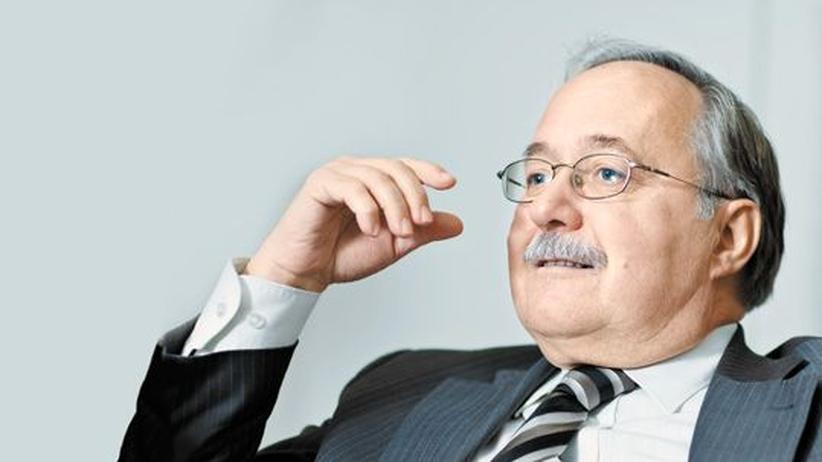 Schweizer Altbundesrat Schmid: Altbundesrat Samuel Schmid im ZEIT-Büro in Baden