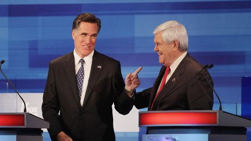 US-Republikaner: Mitt Romney (links) und Newt Gingrich