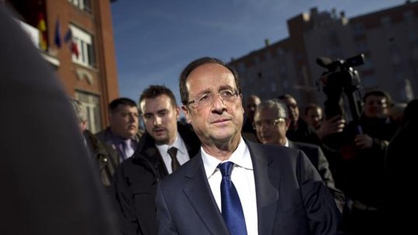 Der Präsidentschaftskandidat der französischen Sozialisten, Francois Hollande