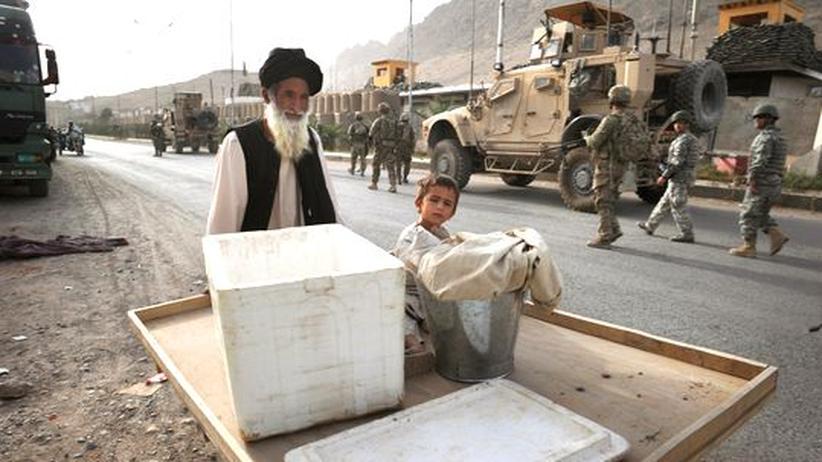 Ein Händler in der südafghanischen Stadt Arghandab