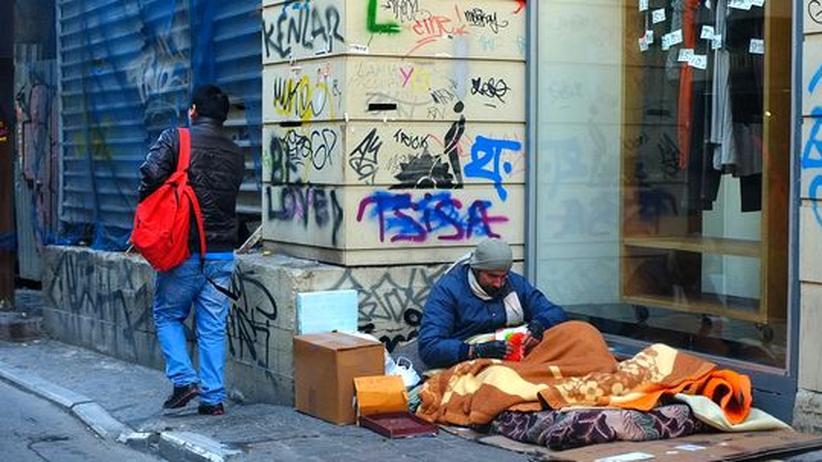 Schuldenkrise: Griechenlands Wirtschaft bricht um sieben Prozent ein