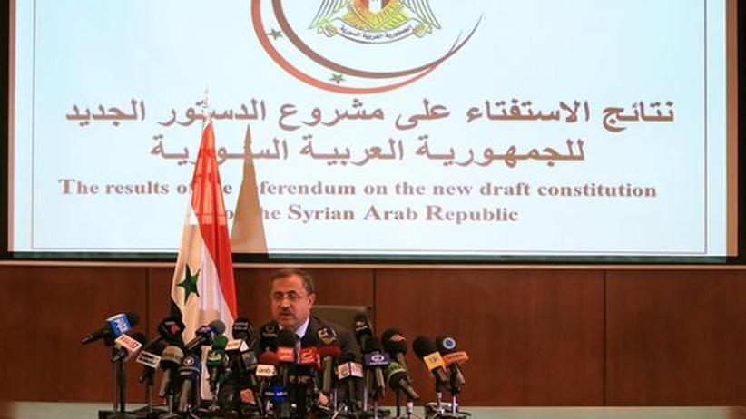 Assad-Regime: Syrien sieht neue Verfassung bestätigt
