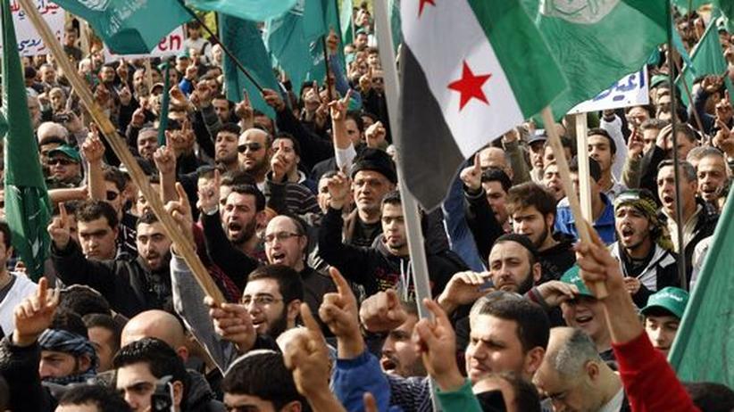 Anti-Assad-Demonstration in Sidon, Libanon