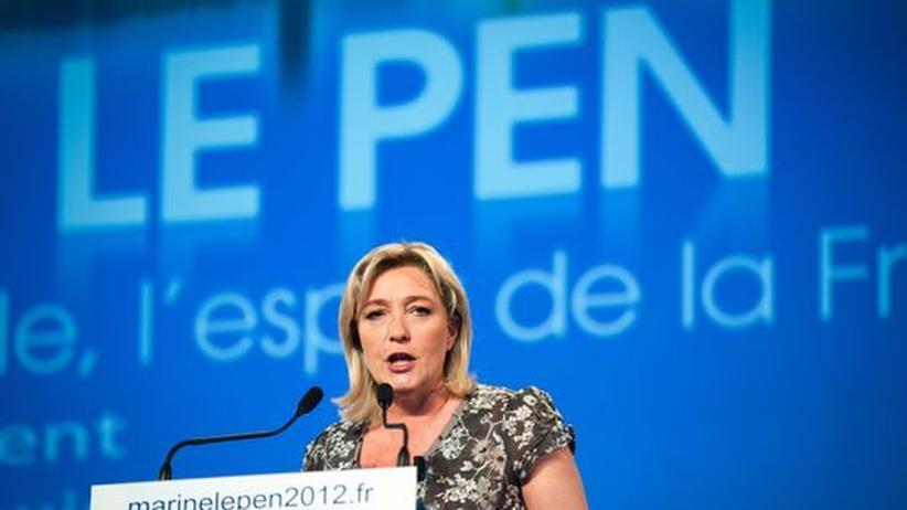 Front-National-Präsidentin Marine Le Pen bei einer Parteiveranstaltung