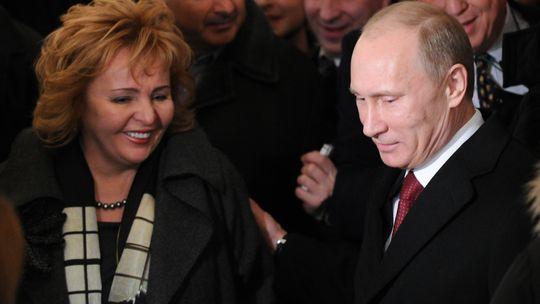 Wladimir Putin mit seiner Frau Ljudmila