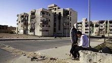 Zerstörte Häuser in Sirte