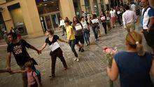 Proteste in Malaga, Spanien