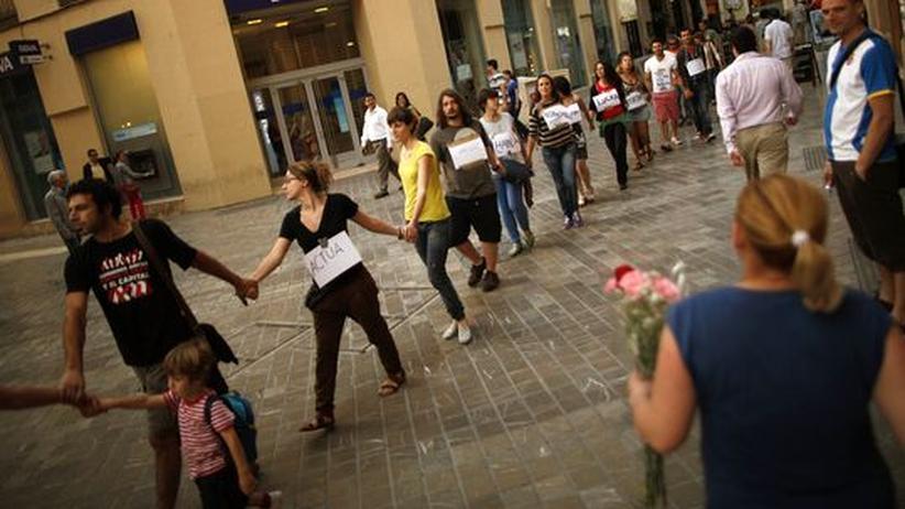 Jugendarbeitslosigkeit: Proteste in Malaga, Spanien