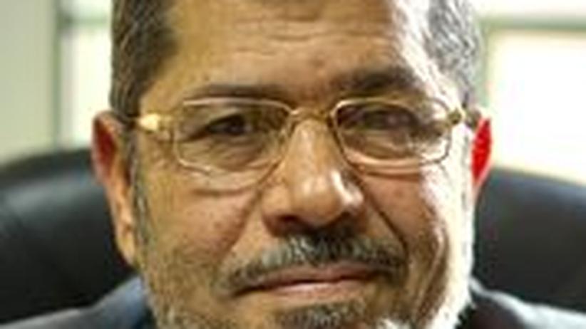 Der Kandidat der Muslimbruderschaft, Mohammed Mursi, in Kairo