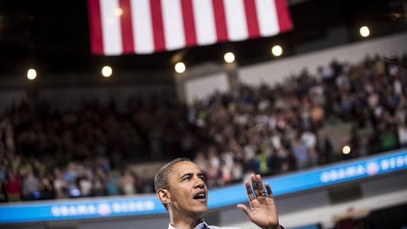 US-Präsident Barack Obama spricht in Ohio zum Wahlkampfauftakt.