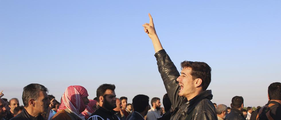 Protestierende in Qusair nahe Homs