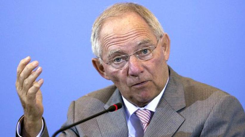 Euro-Krise: Bundesfinanzminister Wolfgang Schäuble