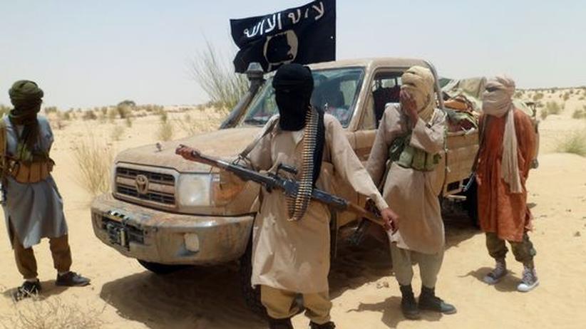 Kämpfer der islamistischen Gruppe Ansar Dine im malischen Timbuktu
