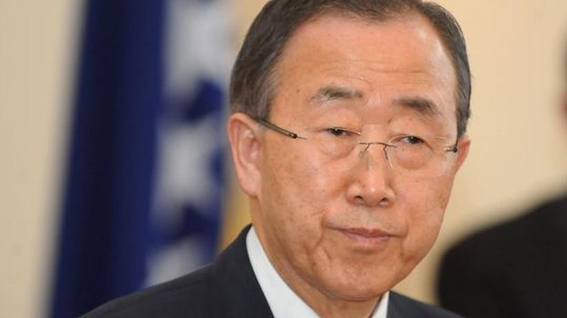 Ban-Rede zu Syrien: UN-Generalsekretär Ban Ki Moon bei seinem Besuch in Bosnien