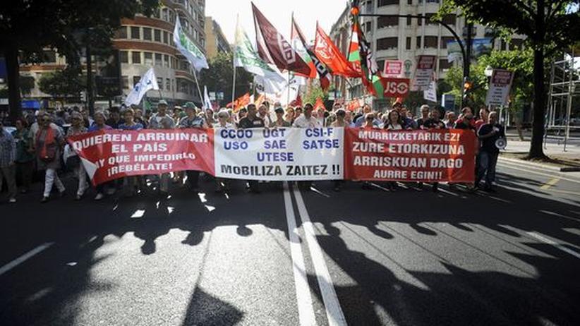 Euro-Krise: Spaniens Sparkurs treibt Hunderttausende auf die Straße