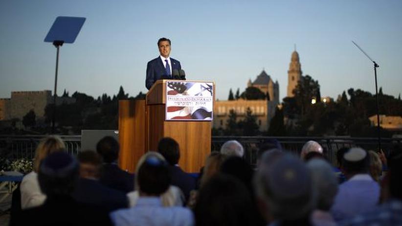 Israel-Reise: Romney disqualifiziert sich als Nahost-Vermittler
