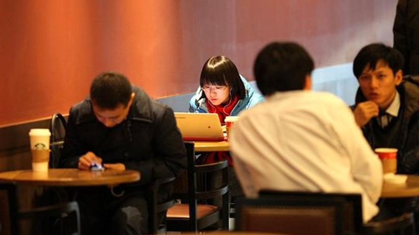Internet in China: Cafe in Peking