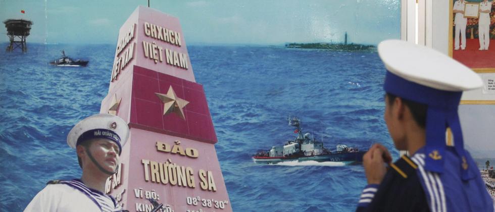 Vietnamesisches Propagandabild über die Spratly-Inseln