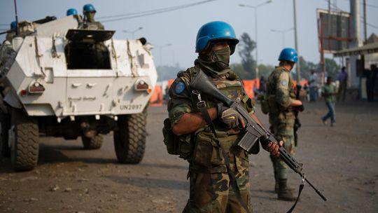 UN-Soldaten in Goma, Kongo