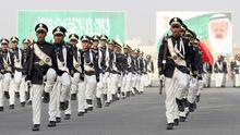 Saudische Polizei in Mekka