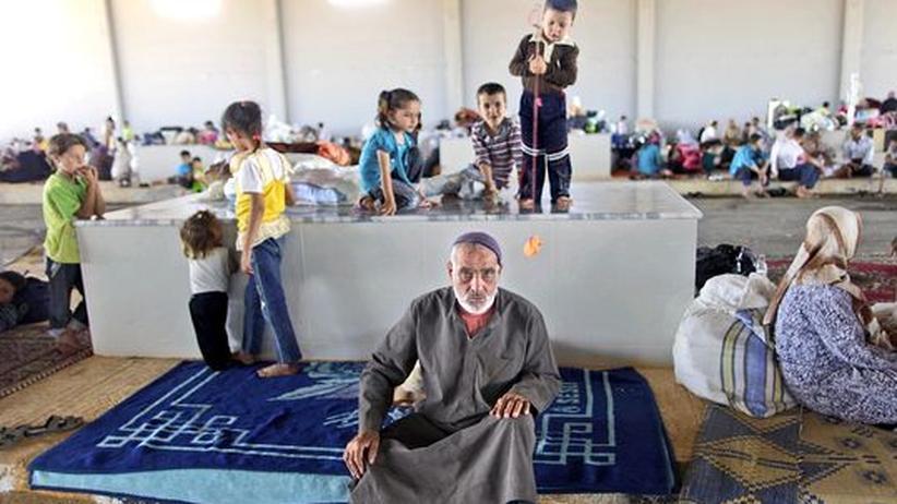 Ein syrischer Flüchtling im Auffanglager Bab Al-Salameh