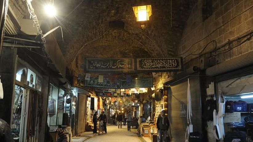 Der historische Al-Madina-Basar in Aleppo vor der Zerstörung (März 2011)