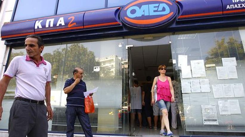 Euro-Krise: Arbeitslosigkeit in Griechenland auf Rekordniveau gestiegen