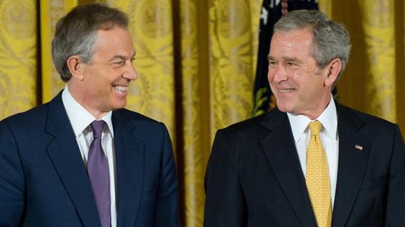 Tony Blair und George W. Bush im Januar 2009 im Weißen Haus