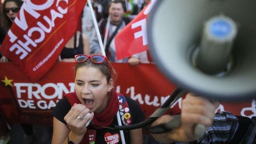 Schuldenkrise: Zehntausende Franzosen demonstrieren gegen die Sparpolitik