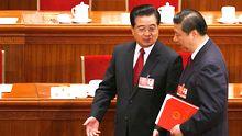 Hu Jintao (l.) und Xi Jinping