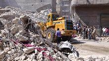 Durch Luftangriffe zerstörte Gebäude in Aleppo