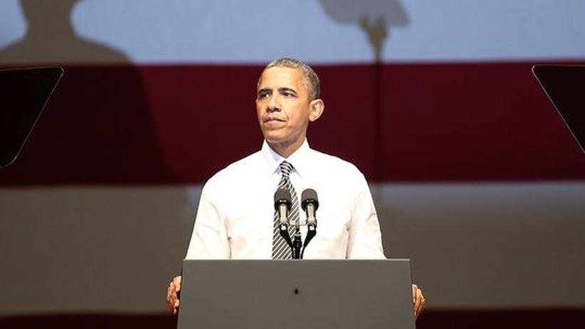 Obamas Duell-Flop: US-Präsident Obama während einer Wahlkampfveranstaltung in San Francisco