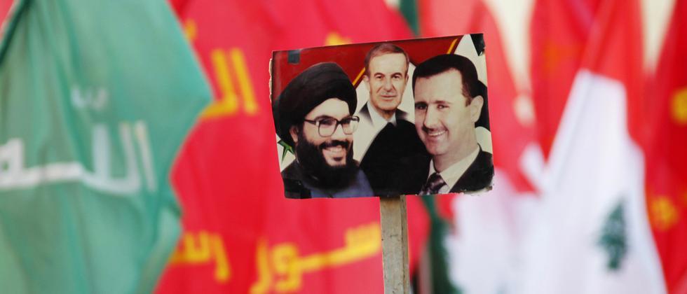 Hisbollah-Anhänger in Bint Jbeil