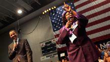 Edith Childs macht für Barack Obama Werbung.
