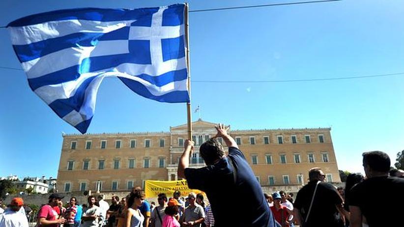 Euro-Krise: Demonstranten vor dem griechischen Parlament während des Generalstreiks Ende September in Athen