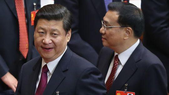 Chinas Vizepräsident Xi Jinping (l.) und Vizeministerpräsident Li Keqiang