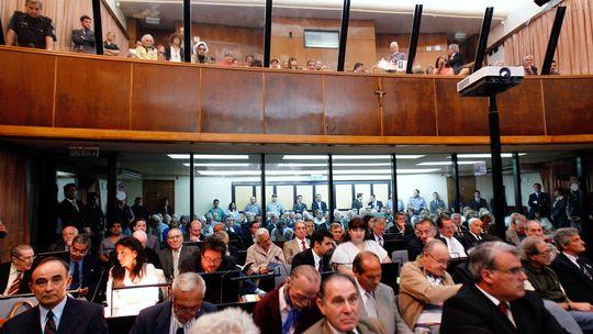 Der Gerichtssaal in Buenos Aires