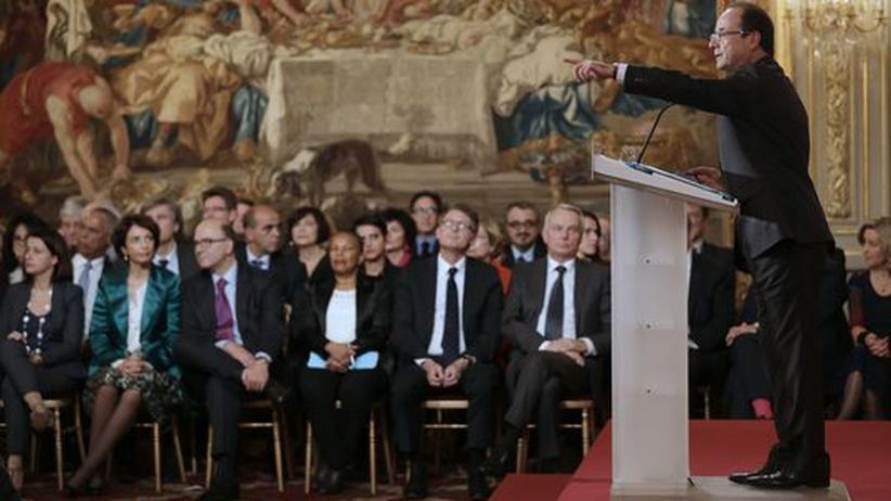 """François Hollande: """"Niemand hat irgendjemandem Lehren zu erteilen"""""""