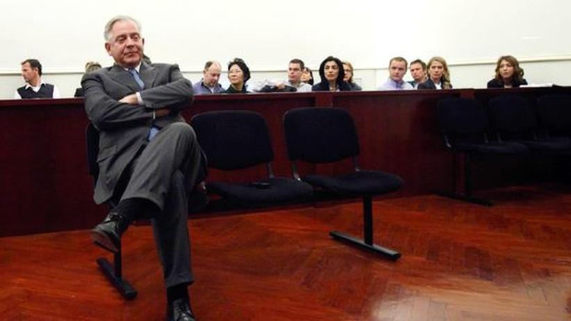 Korruption: Der ehemalige Ministerpräsident Ivo Sanader bei Gericht