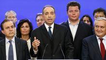 Jean-François Copé (Mitte) bei seiner Siegeserklärung in der UMP-Parteizentrale in Paris