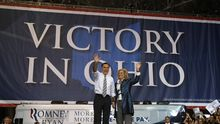 Mitt Romney beim Wahlkampf in Ohio