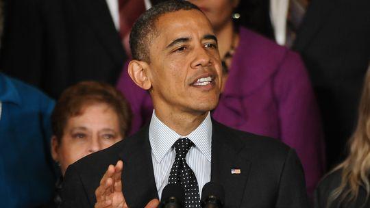 US-Präsident Barack Obama bei einer Rede im Weißen Haus