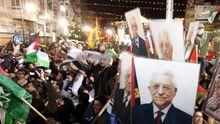 Palästinensischer Jubel nach der UN-Entscheidung in Ramallah